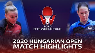Полина Михайлова vs Chantal Mantz | Hungarian Open 2020 (FS)