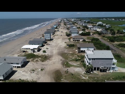 Drone footage shows aftermath of Hurricane Isaias on Oak Island