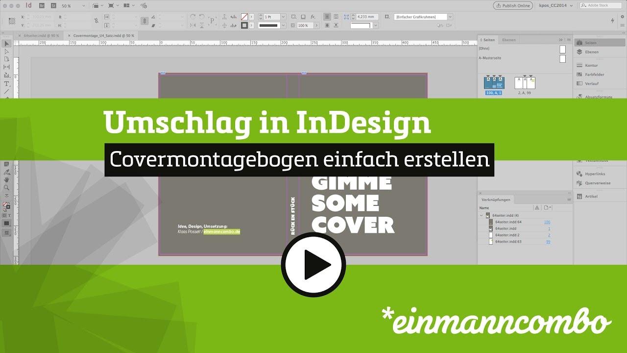 InDesign: Covermontagebogen erstellen - YouTube