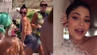 Kylie Jenner Gets WILD, Dances On TABLES & Calls Travis Her HUBBY Igniting Marriage Rumors!