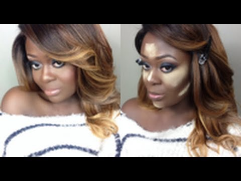 NEW Foundation Routine + How I Highlight & Contour ( On Dark Skin ...