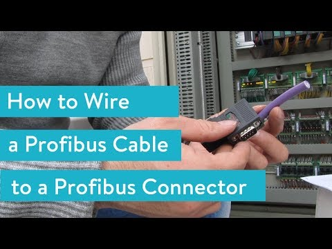 How to Wire a Profibus Cable to a Profibus Connector - YouTube