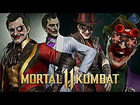 mortal-kombat-11---all-joker-skins,-gear,-intros-and-victory-poses!