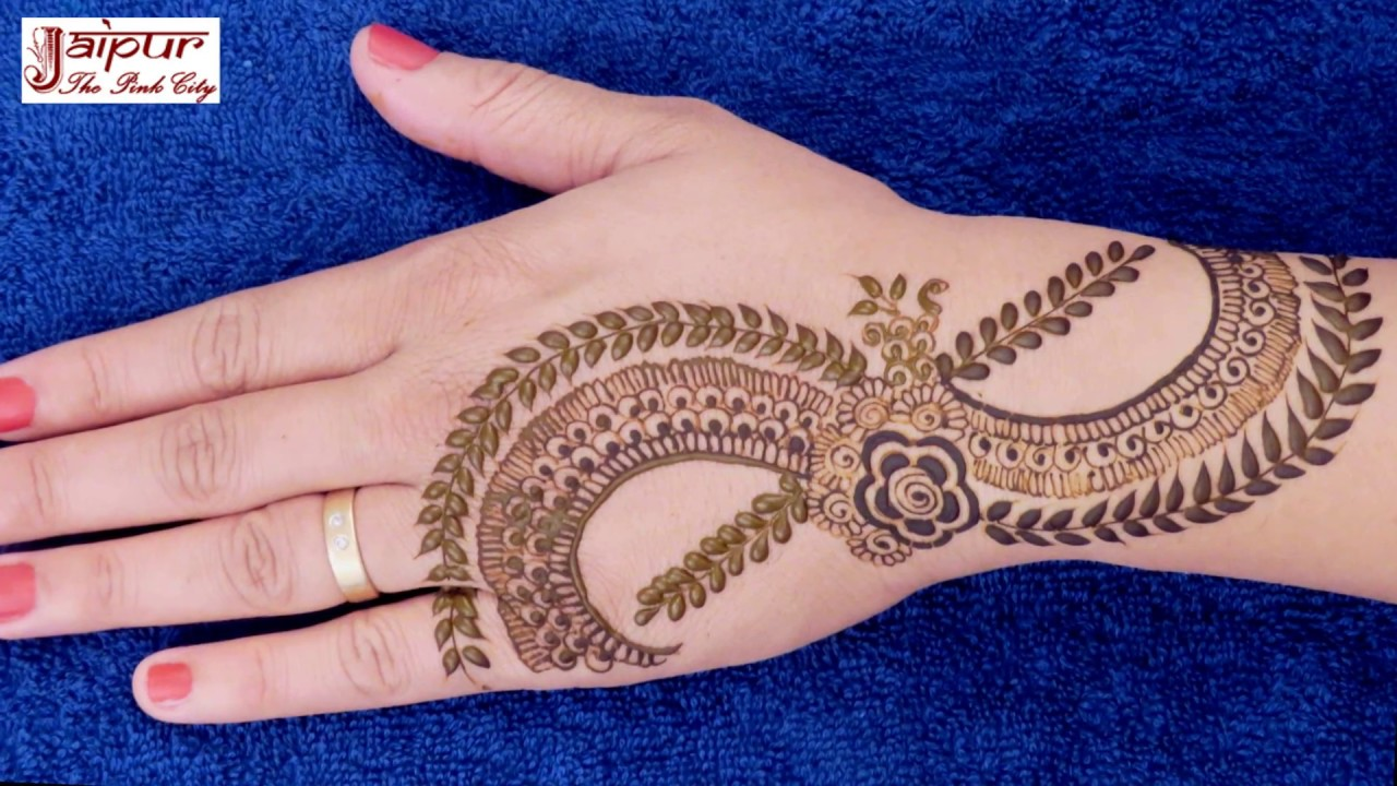 How To apply PROFESSIONAL STYLE mehndi design in 3 minutes!!! henna ...