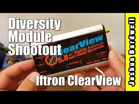 Iftron ClearView Pro - FATSHARK DIVERSITY MODULE COMPARISON
