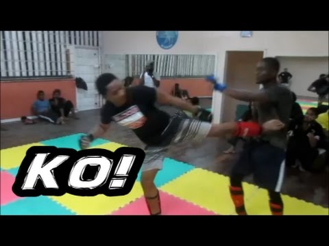 BRUCE GETS DROPPED !!! (MMA Jamaica Sports Federation)