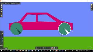 Simple Car Simulation ( Animation ) || Algodoo Tutorial 1