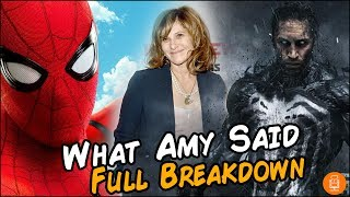 Venom Confirmed for the MCU Amy Pascal Interview Breakdown