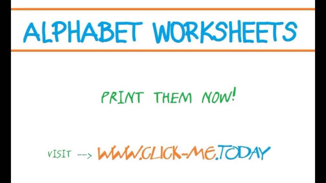 free printable alphabet worksheets youtube