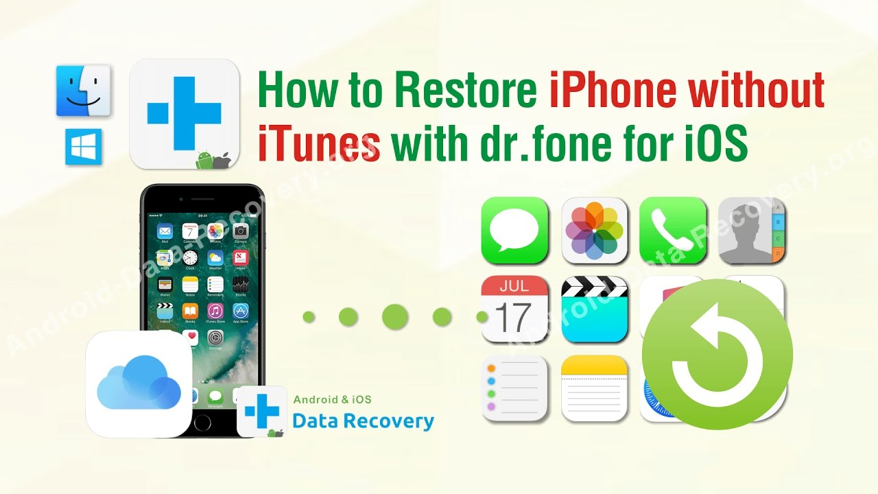 how to restore iphone without itunes how to restore iphone without itunes with dr fone toolkit 3226