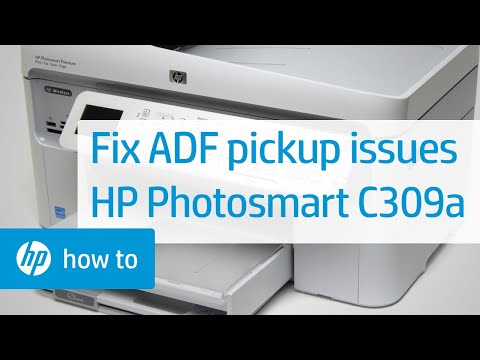 The Automatic Document Feeder Does Not Pick Up Paper - HP Photosmart C309a