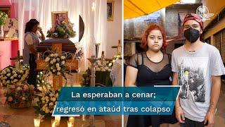 Ella no murió en la estación Olivos, cuando cayeron dos vagones del Metro. Fue trasladada al hospital del ISSSTE en Tláhuac donde el viernes perdió la vida y con ella sumaron 26 las víctimas mortales
