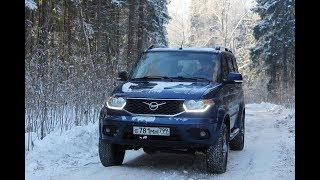 Новый УАЗ Патриот 2019: тест обзор 150 лошадей, рысящих по глубокому снегу