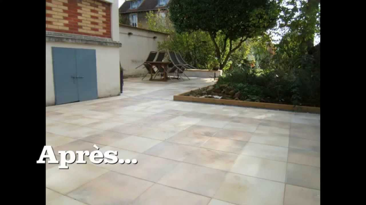 "Terrasse Exterieur Pierre Rénovation Terrasse, ""dallage Marlux"" - Youtube"