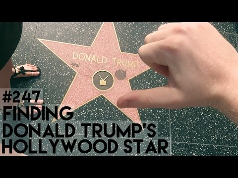 FINDING DONALD TRUMP'S HOLLYWOOD STAR (UGH)