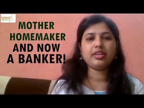 Mother. Homemaker. And Now A Banker!