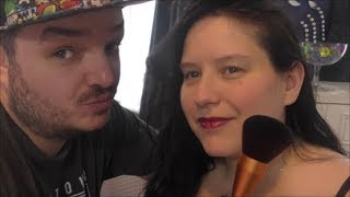Asmr  - I get Pampered by my Fiance Nathan! Face Brushing with a big soft brush