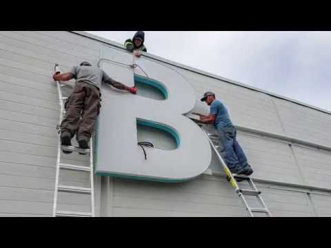 Baycrest Roof Channel Letter sign by Signarama Toronto