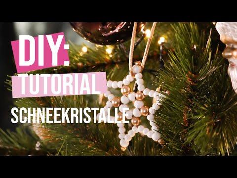 DIY Tutorial: Schneekristalle dekorative Christbaumanhänger