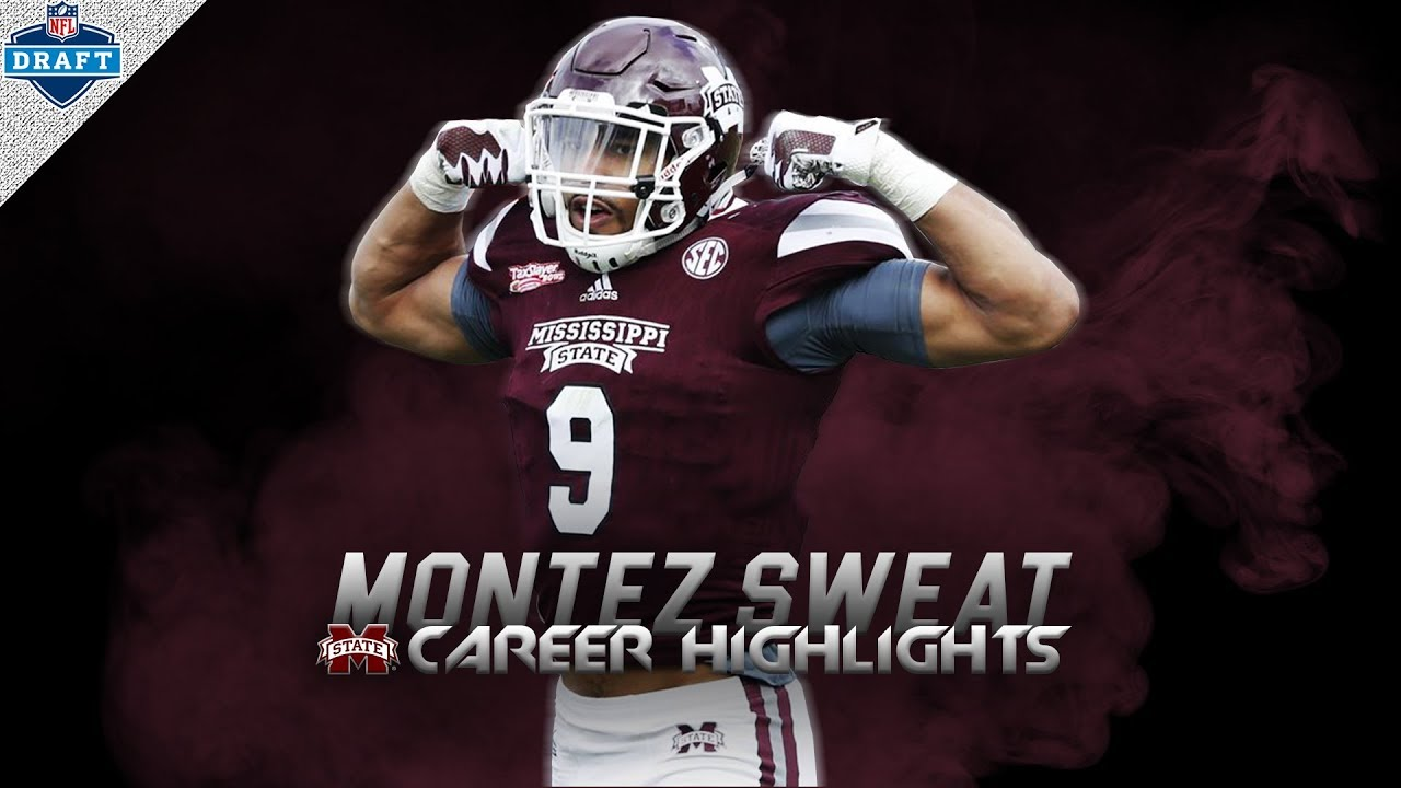 Fastest DL in NFL Combine HISTORY - Montez Sweat Mississippi State Highlights ᴴᴰ