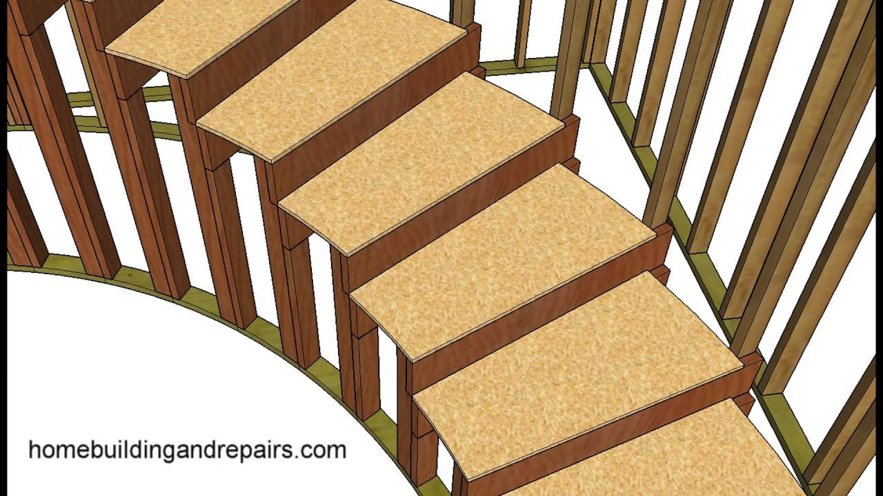 How To Build And Frame Curved Stairs   Example 2