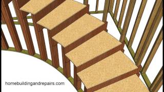 How to Build and Frame Curved Stairs - Example 2