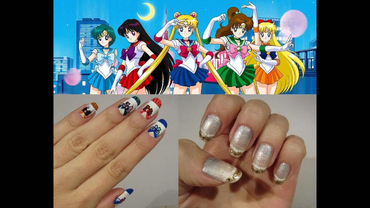 Sailor Moon Inspired Nails Senshi Princess Serenity Versions
