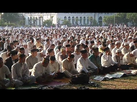 Muslims celebrate Eid al-Adha religious holiday
