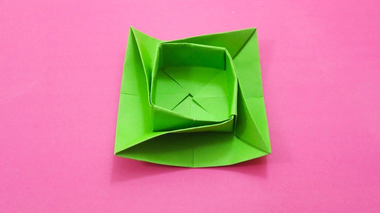Origami Round Twist Box Bowl Tutorial