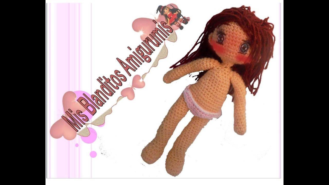 Tutorial crochet patrón braguitas muñeca Lilia amigurumi - YouTube