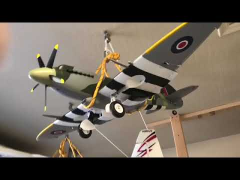 Hanging Rc Airplanes From A Ceiling In Garage