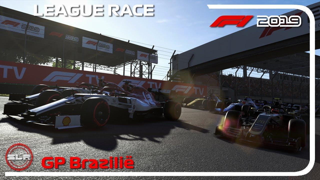 F1 2019 LEAGUE RACE - TOP 5 BINNEN 4 SEC GEFINISHT!! | SLR Brazilië