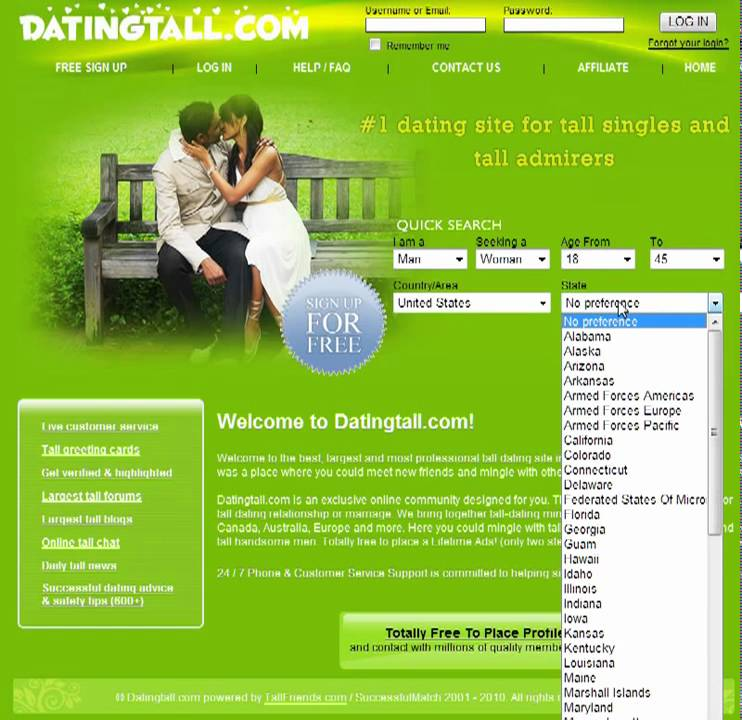 Tall singles dating site