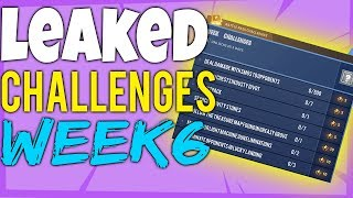 Fortnite WEEK 6 CHALLENGES LEAKED Season 4 All 7 Battle Pass Challenges