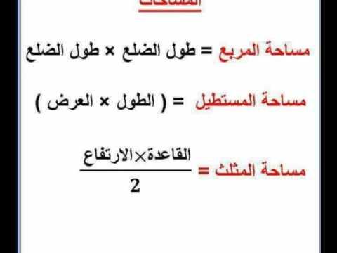 قانون محيط المربع ومحيط 14