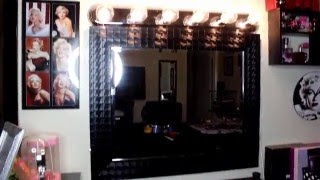 Diy! Vanity Hollywood Mirror Under $50! Vanity Tour