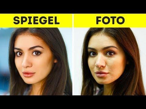 Wie erkenne ich mein wahres Aussehen: auf Fotos oder im Spiegel?