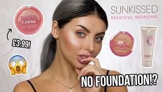 NO FOUNDATION!? SUNKISSED EVERYDAY GLOWY MAKEUP - DRUGSTORE TUTORIAL (EVERYTHING UNDER £10) ad