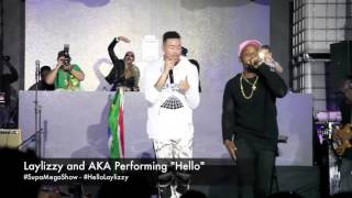 "Laylizzy and AKA perform ""Hello"" at The Supa Maga Show"