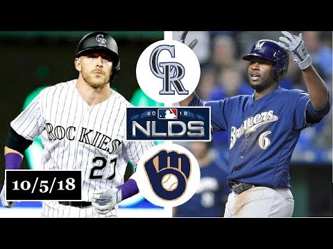Colorado Rockies vs Milwaukee Brewers Highlights || NLDS Game 2 || October 5, 2018