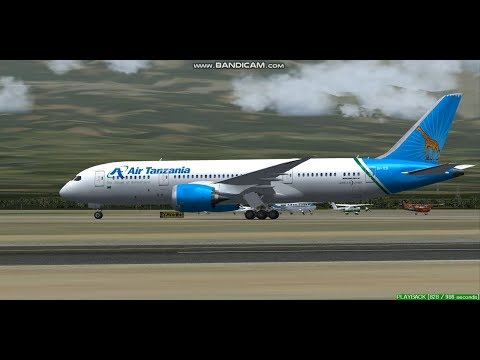 Air Tanzania B787  Kilimanjaro International Airport  HTKJ  Landing FS9
