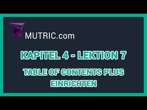 💎 ► WordPress Inhaltsverzeichnis erstellen (Table of Contents Plus) [Plugins] | Mutric.com »
