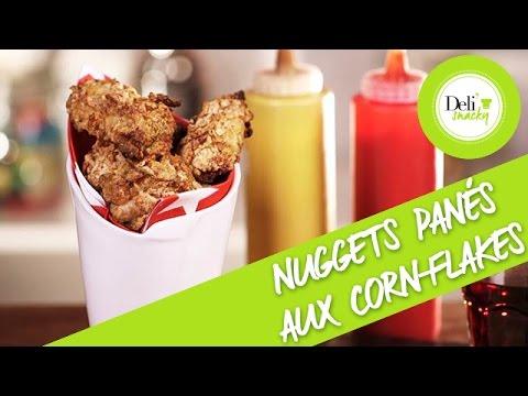 recette-nuggets-de-poulet-panés-aux-corn-flakes