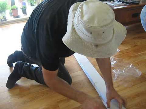 plastic venetian blind install