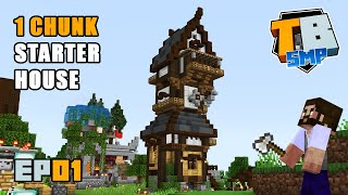 One Chunk Starter House | Truly Bedrock Season 2 [01] | Minecraft Bedrock Edition SMP