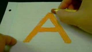 "How to Draw 3D Letters: ""A"""