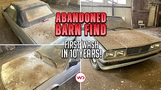 ABANDONED BARN FIND First Wash In 10 Years Maserati! Satisfying Car Detailing Restoration