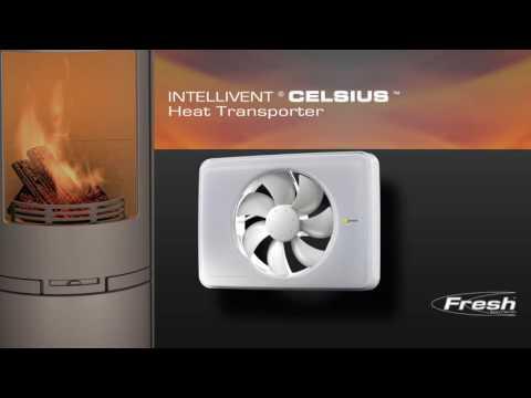 Накладной вентилятор Intellivent Celsius эффективное перемещение теплого воздуха