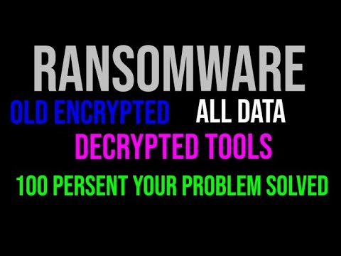 Old Encrypted Data Decrypted Tools