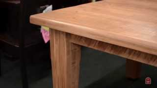 Barn Furniture - Reclaimed Wormy Maple Barnwood Dining Extension Table